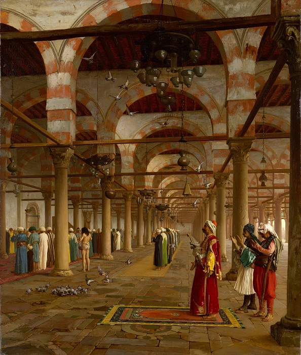 Jean-Léon Gérôme - Prayer in the Mosque. Metropolitan Museum: part 1