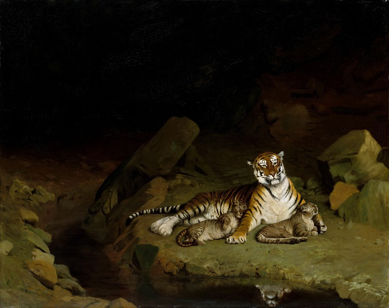 Jean-Léon Gérôme - Tiger and Cubs. Metropolitan Museum: part 1