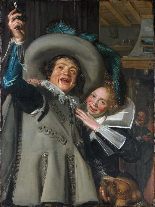 Франс Халс - Молодые мужчина и женщина (Йонкер Рамп и его возлюбленная). Музей Метрополитен: часть 1