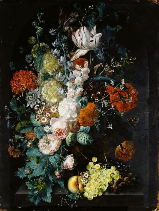 Margareta Haverman - A Vase of Flowers. Metropolitan Museum: part 1