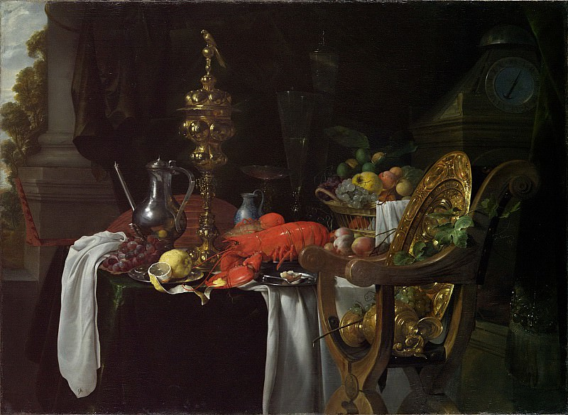 Jan Davidsz de Heem - Still Life: A Banqueting Scene. Metropolitan Museum: part 1