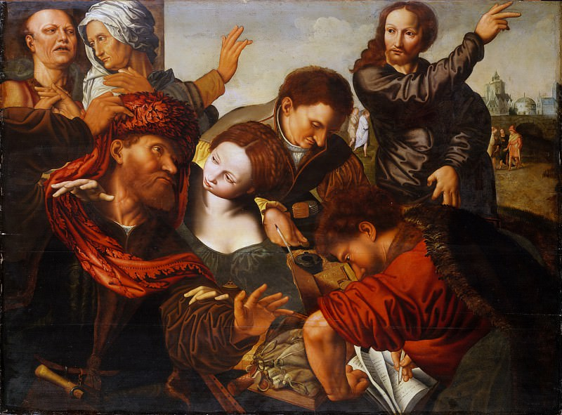 Workshop of Jan Sanders van Hemessen - The Calling of Matthew. Metropolitan Museum: part 1