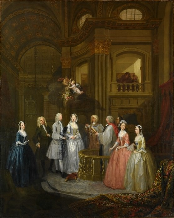William Hogarth - The Wedding of Stephen Beckingham and Mary Cox. Metropolitan Museum: part 1