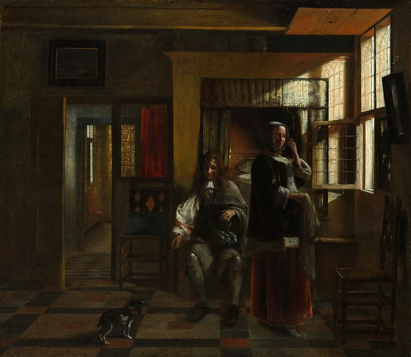 Pieter de Hooch - Interior with a Young Couple. Metropolitan Museum: part 1