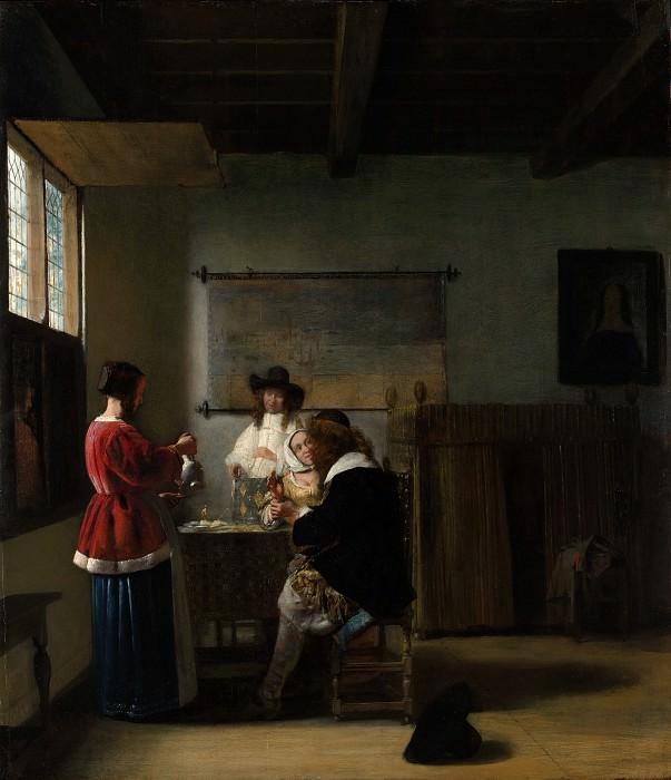 Pieter de Hooch - The Visit. Metropolitan Museum: part 1