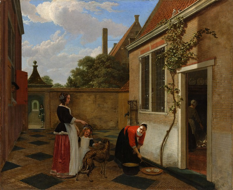 Людольф де Йонг - Сцена во внутреннем дворе. Музей Метрополитен: часть 1