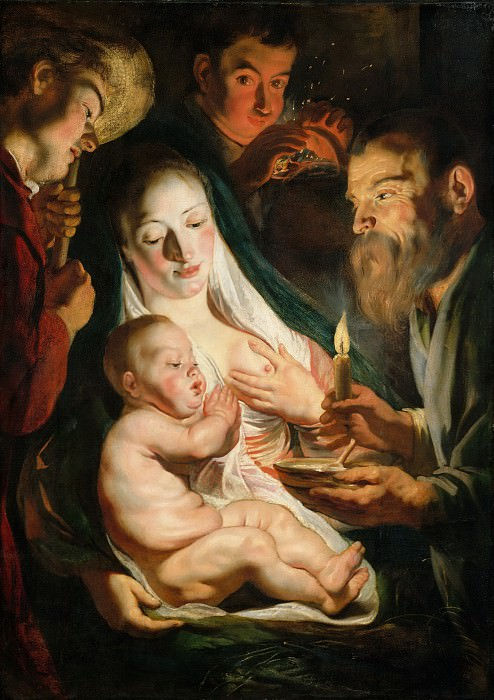 Jacob Jordaens - The Holy Family with Shepherds. Metropolitan Museum: part 1