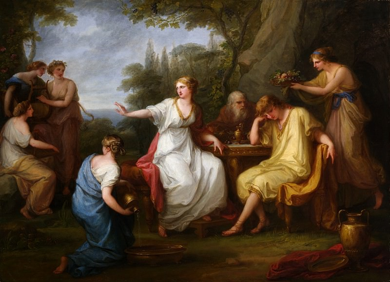 Angelika Kauffmann - The Sorrow of Telemachus. Metropolitan Museum: part 1