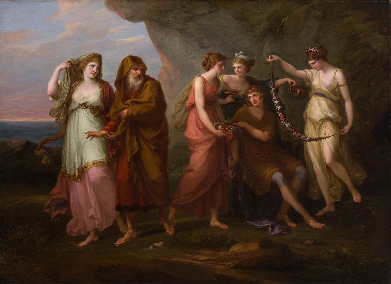 Angelika Kauffmann - Telemachus and the Nymphs of Calypso. Metropolitan Museum: part 1