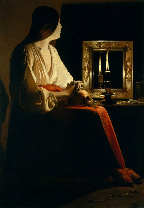 Georges de La Tour - The Penitent Magdalen. Metropolitan Museum: part 1