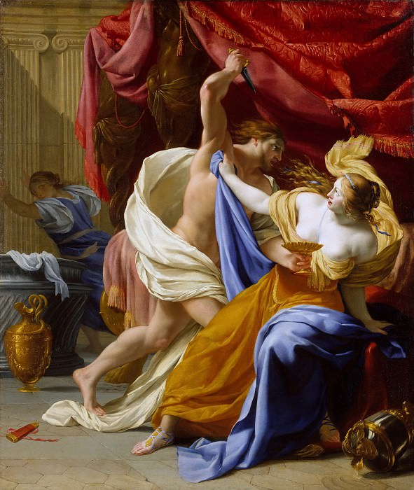 Eustache Le Sueur - The Rape of Tamar. Metropolitan Museum: part 1