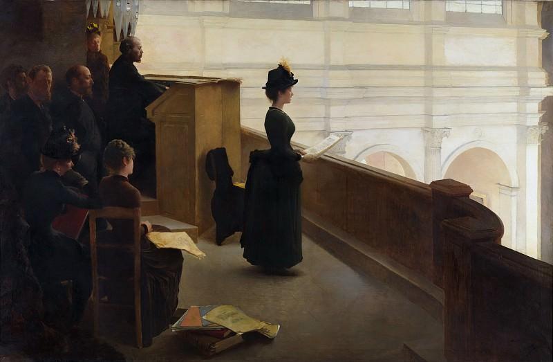 Henry Lerolle - The Organ Rehearsal. Metropolitan Museum: part 1