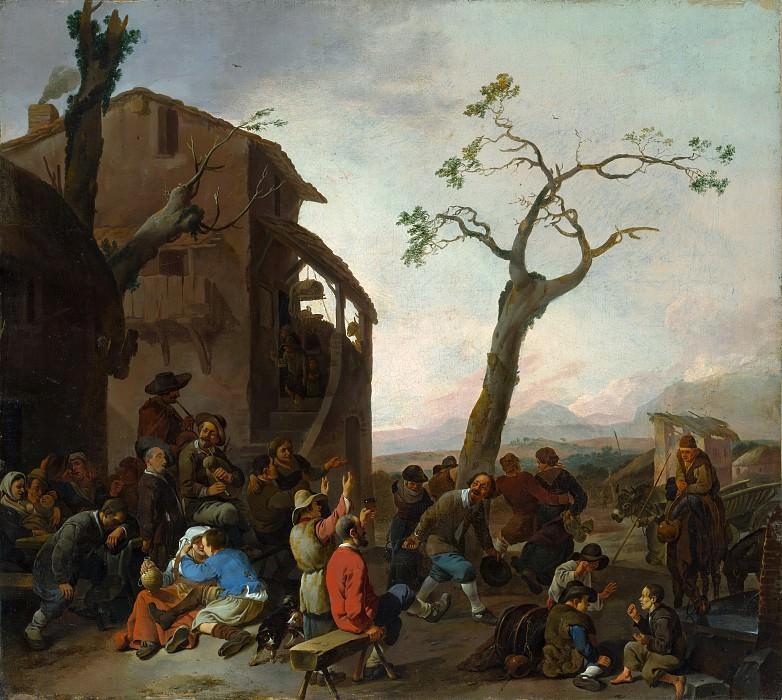 Johannes Lingelbach - Peasants Dancing. Metropolitan Museum: part 1