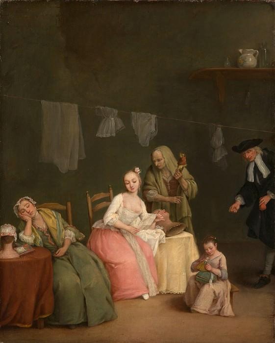Пьетро Лонги (Италия, Венеция 1701-1785) - Письмо. Музей Метрополитен: часть 1