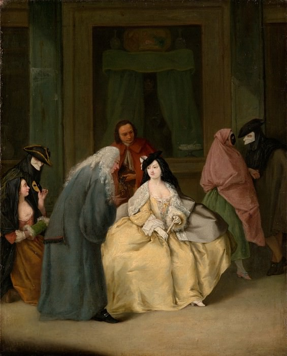 Pietro Longhi (Italian, Venice 1701–1785 Venice) - The Meeting. Metropolitan Museum: part 1