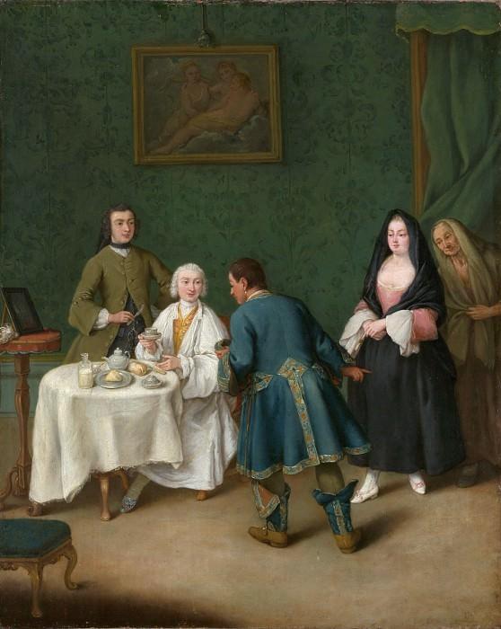 Pietro Longhi (Italian, Venice 1701–1785 Venice) - The Temptation. Metropolitan Museum: part 1