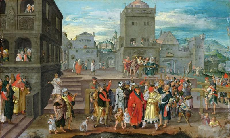 Copy after Lucas van Leyden - Christ Presented to the People. Metropolitan Museum: part 1