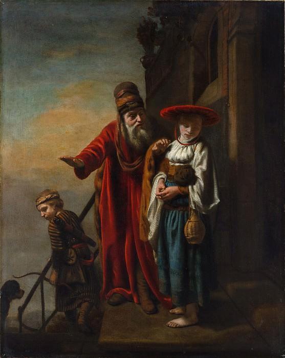 Nicolaes Maes - Abraham Dismissing Hagar and Ishmael. Metropolitan Museum: part 1