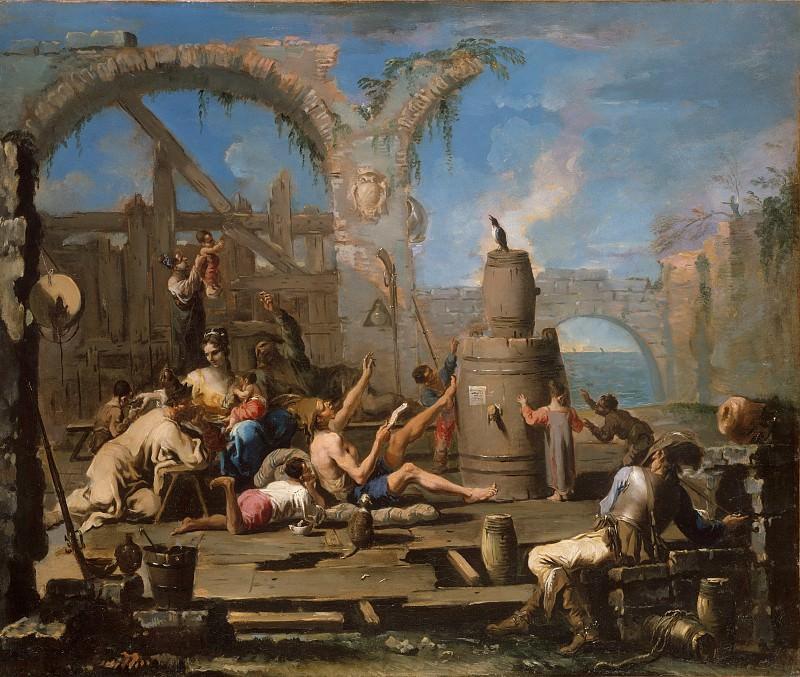Alessandro Magnasco - The Tame Magpie. Metropolitan Museum: part 1