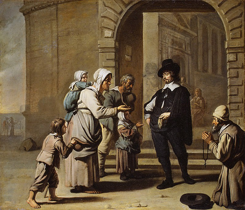 Master of the Béguins, French or Flemish, active 1650–60 - Beggars at a Doorway. Metropolitan Museum: part 1