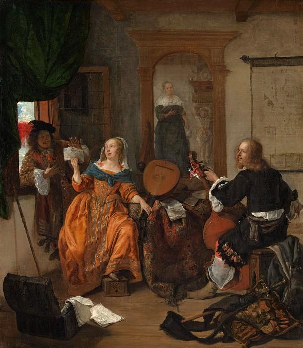 Gabriël Metsu - A Musical Party. Metropolitan Museum: part 1