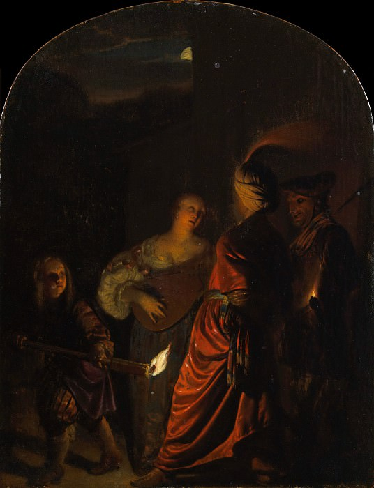 Frans van Mieris the Elder - The Serenade. Metropolitan Museum: part 1