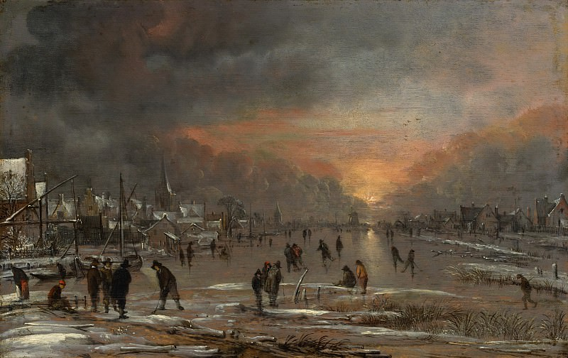 Aert van der Neer - Sports on a Frozen River. Metropolitan Museum: part 1