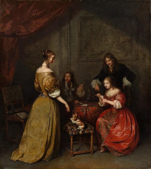 Caspar Netscher - The Card Party. Metropolitan Museum: part 1