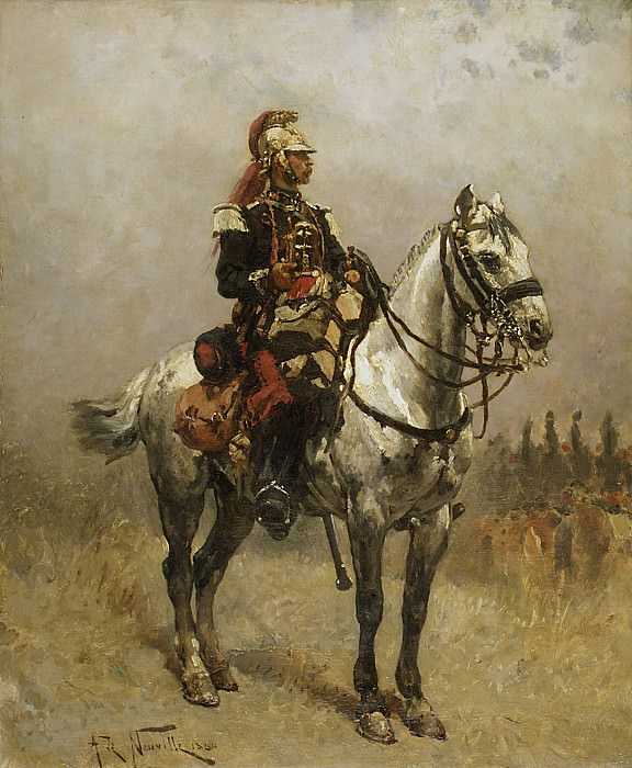 Alphonse-Marie-Adolphe de Neuville - A Cavalryman. Metropolitan Museum: part 1