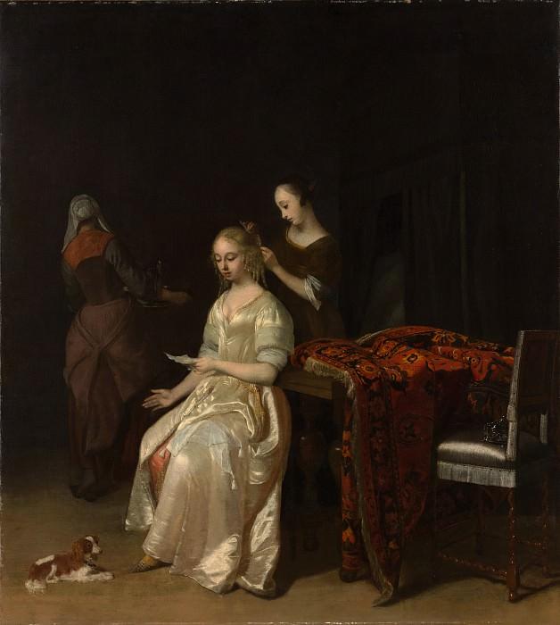 Jacob Ochtervelt - The Love Letter. Metropolitan Museum: part 1