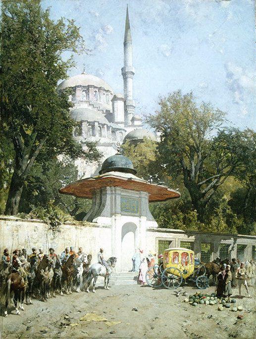 Alberto Pasini - A Mosque. Metropolitan Museum: part 1