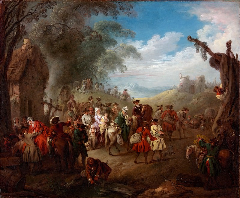 Jean Baptiste Joseph Pater - Troops on the March. Metropolitan Museum: part 1