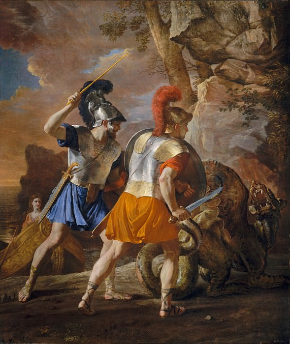 Nicolas Poussin - The Companions of Rinaldo. Metropolitan Museum: part 1