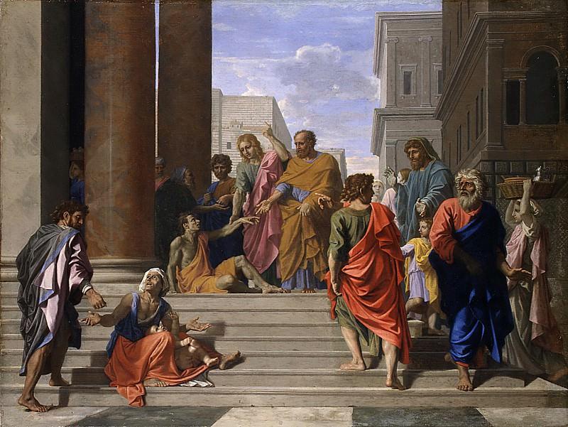 Saints Peter and John Healing the Lame Man. Nicolas Poussin
