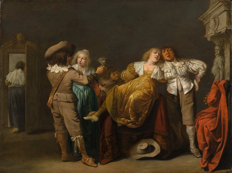 Pieter Quast - A Party of Merrymakers. Metropolitan Museum: part 1