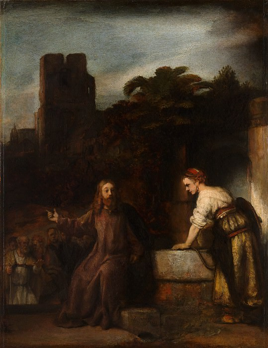 Attributed to Rembrandt - Christ and the Woman of Samaria. Metropolitan Museum: part 1