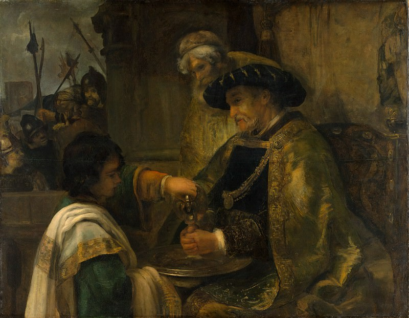 Style of Rembrandt - Pilate Washing His Hands. Metropolitan Museum: part 1