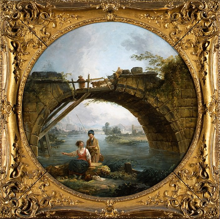 Hubert Robert - The Old Bridge. Metropolitan Museum: part 1