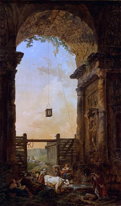Hubert Robert - The Return of the Cattle. Metropolitan Museum: part 1