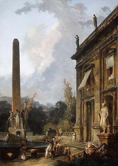 Hubert Robert - Wandering Minstrels. Metropolitan Museum: part 1