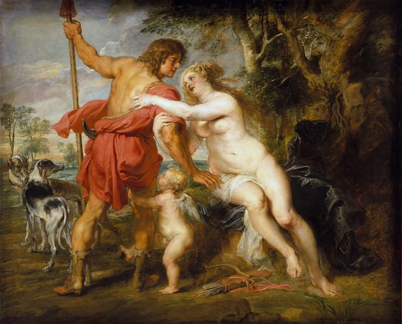 Peter Paul Rubens - Venus and Adonis. Metropolitan Museum: part 1