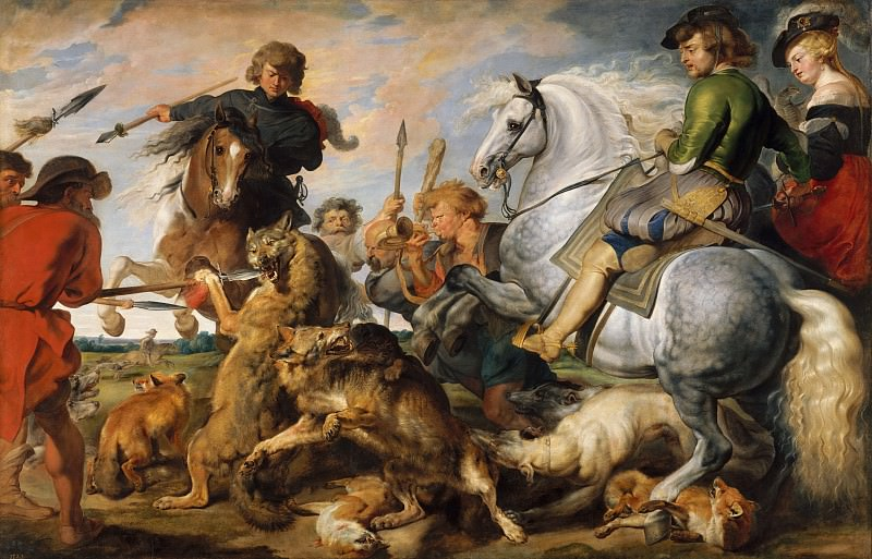 Wolf and Fox Hunt (Rubens and Workshop). Peter Paul Rubens