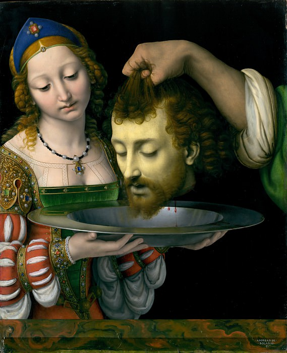 Andrea Solario - Salome with the Head of Saint John the Baptist. Metropolitan Museum: part 1