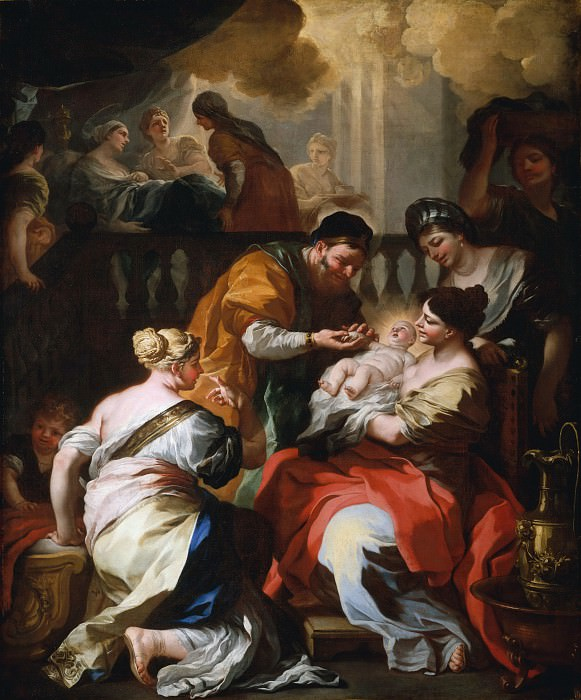 Francesco Solimena - The Birth of the Virgin. Metropolitan Museum: part 1