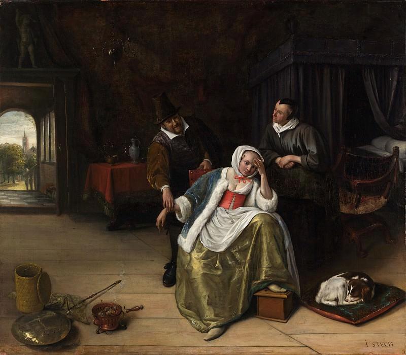 Jan Steen - The Lovesick Maiden. Metropolitan Museum: part 1