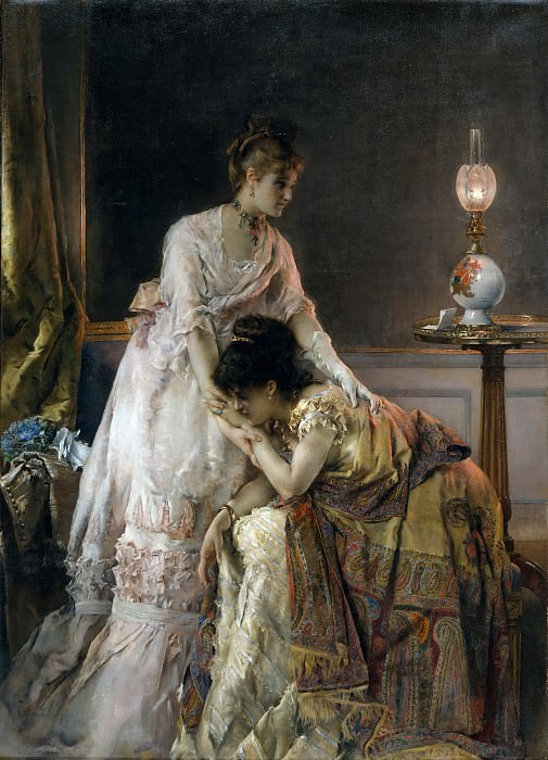 Alfred Stevens - After the Ball. Metropolitan Museum: part 1