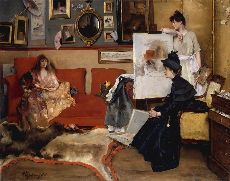 Alfred Stevens - In the Studio. Metropolitan Museum: part 1
