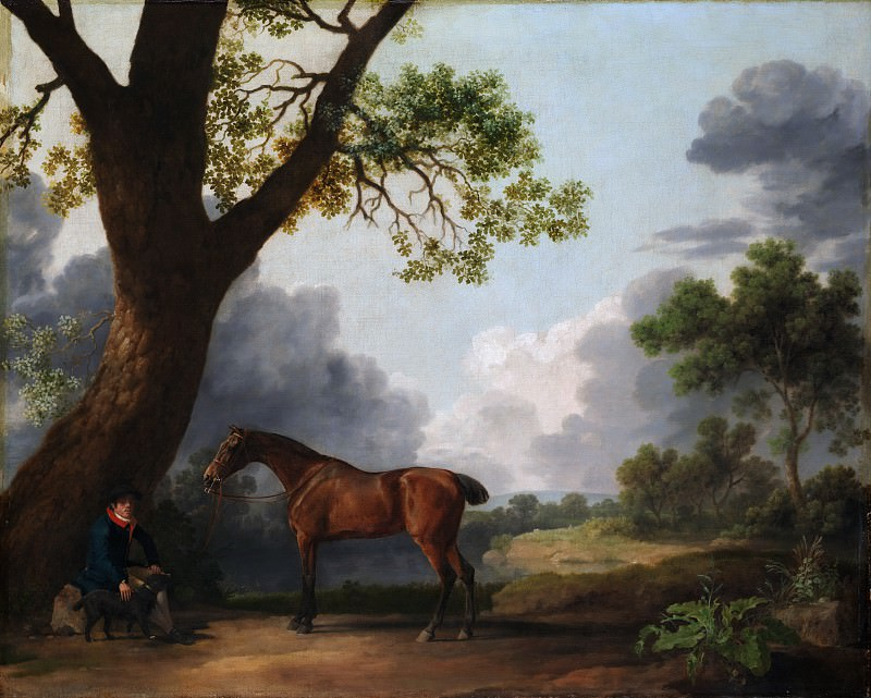 George Stubbs - The Third Duke of Dorset's Hunter with a Groom and a Dog. Metropolitan Museum: part 1