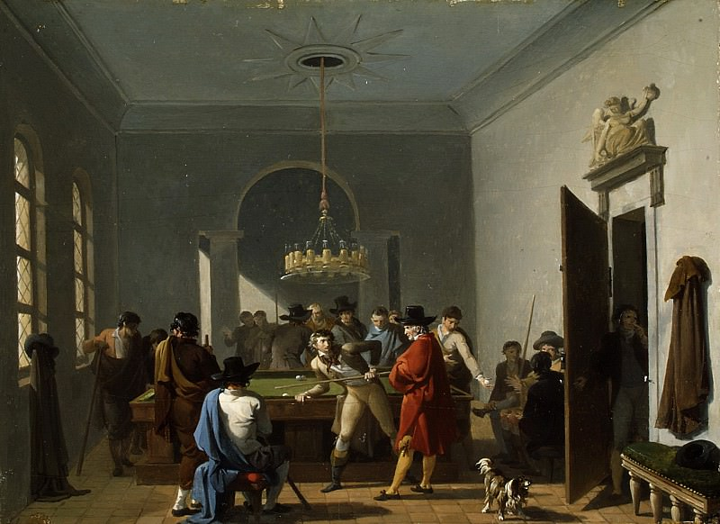 Nicolas Antoine Taunay - The Billiard Room. Metropolitan Museum: part 1