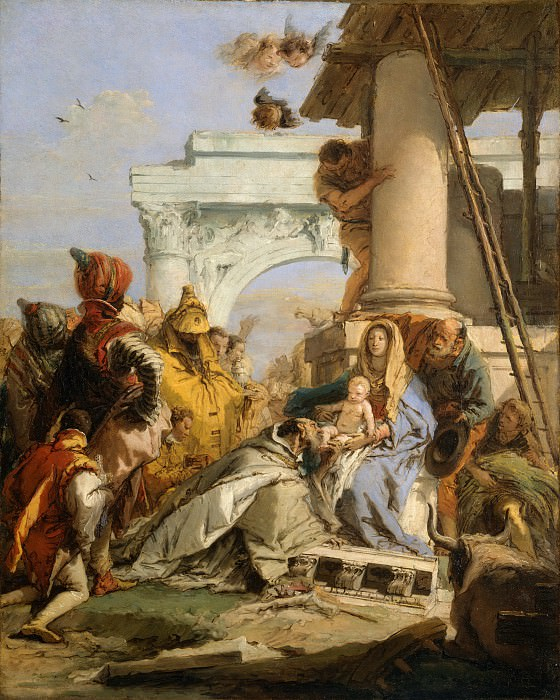 The Adoration of the Magi. Giovanni Battista Tiepolo